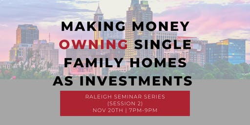 Making Money OWNING Single Family Homes As Investments