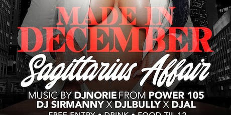 MADE IN DECEMBER SAGITTARIUS AFFAIR @ AMADEUS NIGHTCLUB  tickets