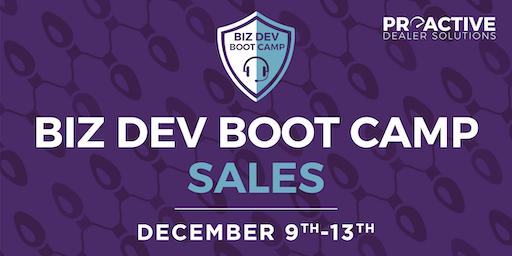 December - Biz Dev Boot Camp Sales