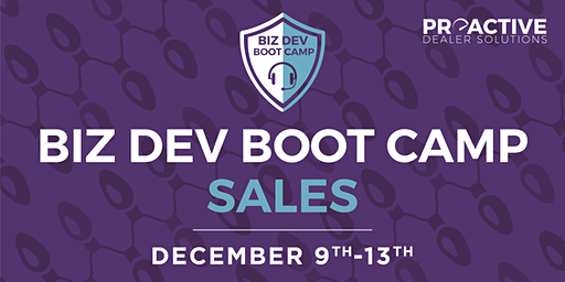 December - Biz Dev Boot Camp Sales