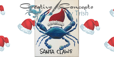 Santa Claws Slate or Canvas Paint Night