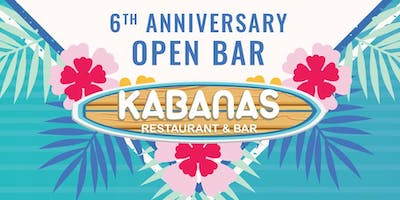 Kabanas 6th Anniversary Luau Party - OPEN BAR
