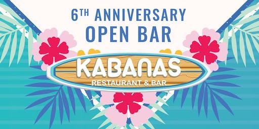 Kabanas 6th Anniversary Luau Party - OPEN BAR