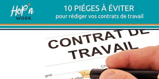 10 pièges à éviter pour rédiger vos contrats de travail