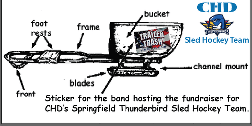2nd Annual Thunderbirds Sled Hockey Fundraiser with the Trailer Trash Band
