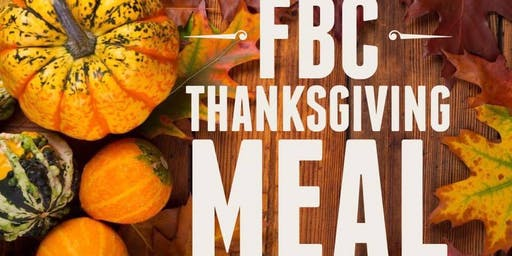 First Baptist Church - Thanksgiving Meal