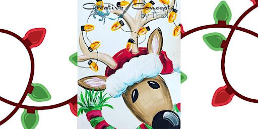 Reindeer Slate or Canvas Paint Night!