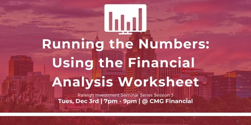 Using the Financial Analysis Worksheet Seminar