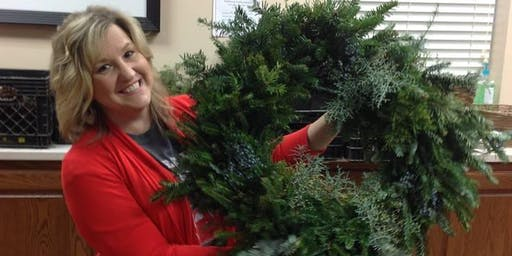 Annual Piedmont Library Wreath Making Event