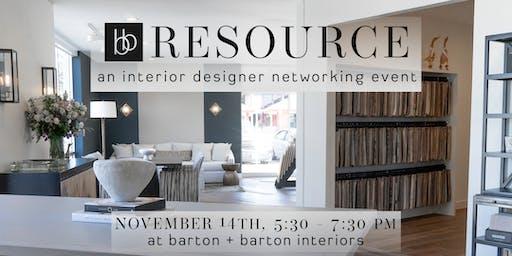 BB RESOURCE : an interior designer networking event