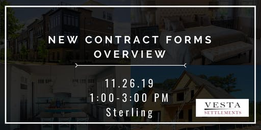 New Contract Forms Overview