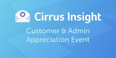 Cirrus Insight Customer & Admin Appreciation Event