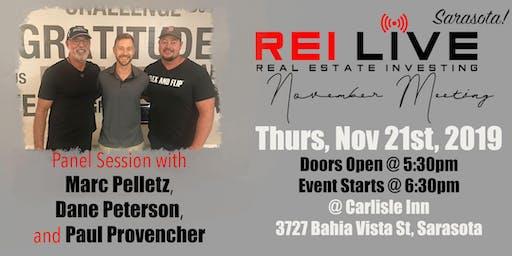 REI Live SRQ Presents Marc Pelletz, Paul Provencher, & Dane Peterson