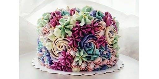 Cake Decorating: Flower garden cake (2019-11-24 starts at 11:30 AM)