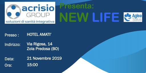 Presentazione aziendale progetto NEWLIFE di Acrisio Group - Bologna