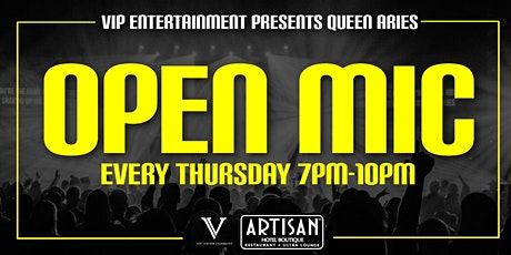Queen Aries Open Mic Night - FREE Event tickets