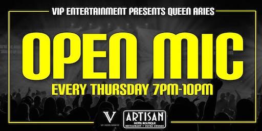 Queen Aries Open Mic Night - FREE Event