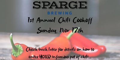 Sparge Brewing 1st Annual Chili Cook Off