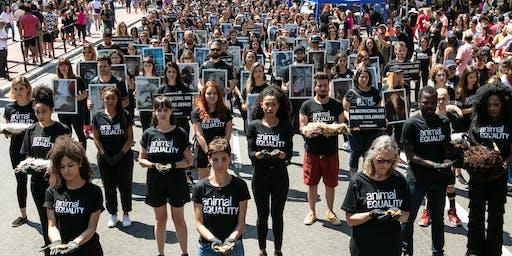 Manifestação pelo Dia Internacional dos Direitos Animais