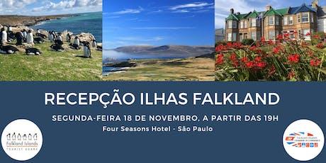 Recepção Ilhas Falkland ingressos