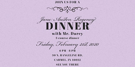 Dinner with Mr. Darcy tickets