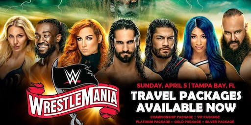 WWE WrestleMania 36 Travel Packages