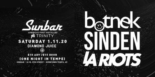Botnek, Sinden and LA Riots at Sunbar 1.11.20