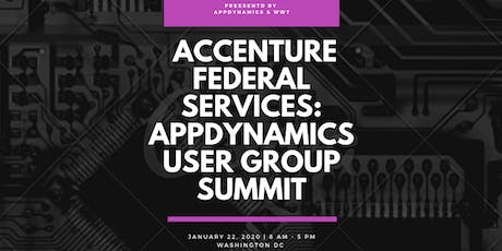 Accenture Federal Services: AppDynamics User Group Summit tickets