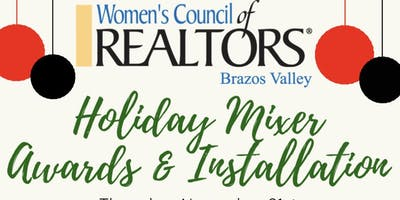 Women's Council of Realtors Brazos Valley  Mixer and Installation