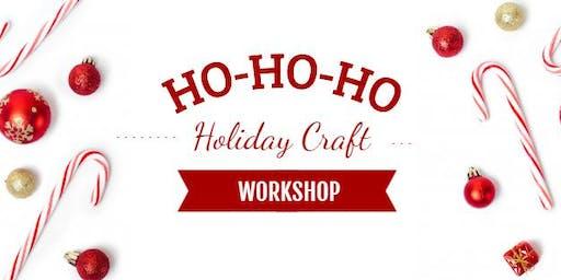 Christmas Sled Ornament Craft Workshop