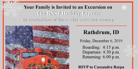 The BNSF Holiday Express - Military & Veteran Families tickets