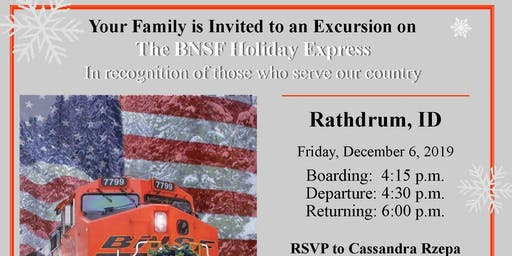 The BNSF Holiday Express - Military & Veteran Families