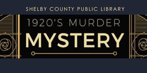 1920s Murder Mystery Dinner