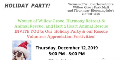 Holiday Party for EVERYONE & Volunteer Appreciation Night for Harmony