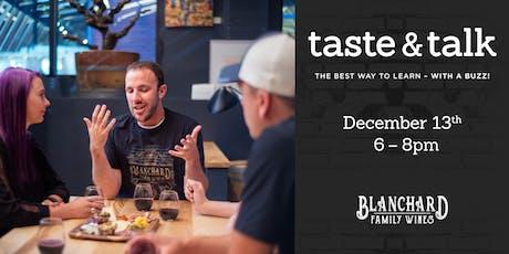 Taste & Talk tickets
