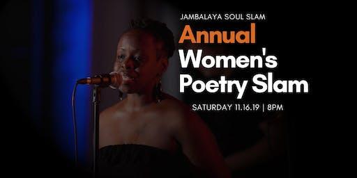 Jambalaya Soul Slam Annual Women's Poetry Slam