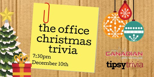The Office Christmas Trivia - Dec 10, 7:30pm - YYC CBH Mahogany