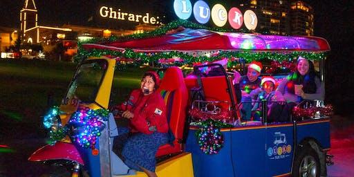 Holiday Lights and Sites San Francisco Tour on Lucky Tuk Tuk