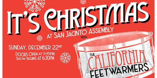 It's Christmas at SJA with the California Feetwarmers
