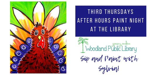 After Hours at the Library: Sip & Paint with Sylvia!