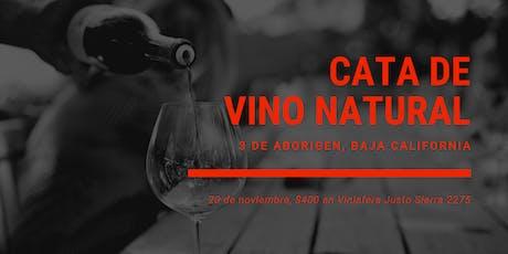 Cata Vinos Naturales Mexicanos boletos