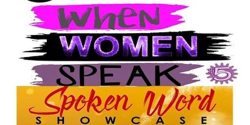 When Women Speak: A Women's SpokenWord Showcase