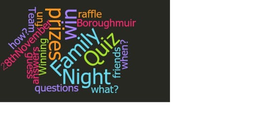 Boroughmuir Family Quiz Night 2019