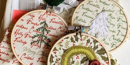 Class is full-YES YOU CAN-Embroidery Ornament with Audry