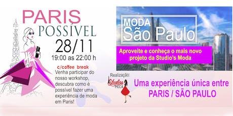 PARIS POSSÍVEL E MODA SÃO PAULO ingressos