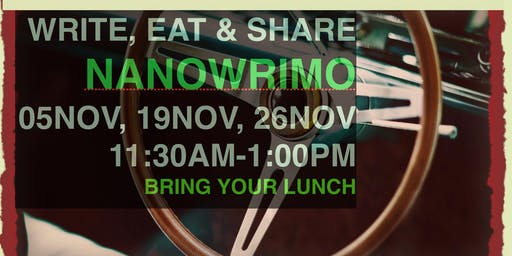 NANOWRIMO 2019 Write In and (Bring Your) Lunch