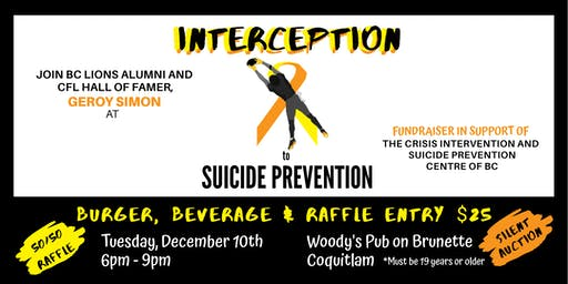 Interception To Suicide Prevention with Geroy Simon