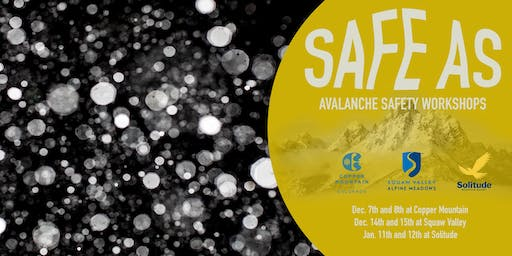 Copy of SAFE AS Clinics - Squaw Valley (CO-ED)