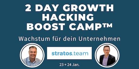 2 Tage Growth Hacking Boost Camp™ Jan | Wachstum für dein Unternehmen Tickets