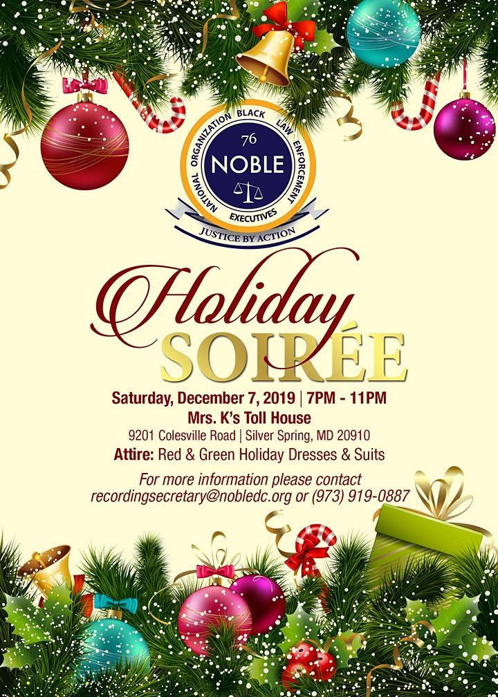 NOBLE Washington, DC Metropolitan Chapter   2019 Holiday Soiree image
